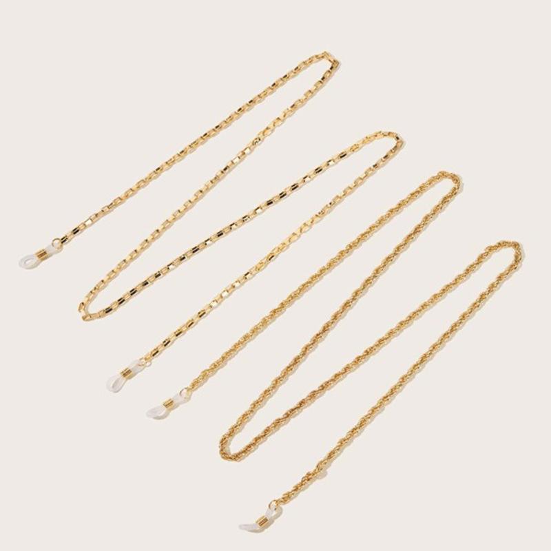 Fashion accessories retro geometric tassel metal accessories frosty wind flat chain Ushaped glasses chain nihaojewelry wholesale NHNZ213250
