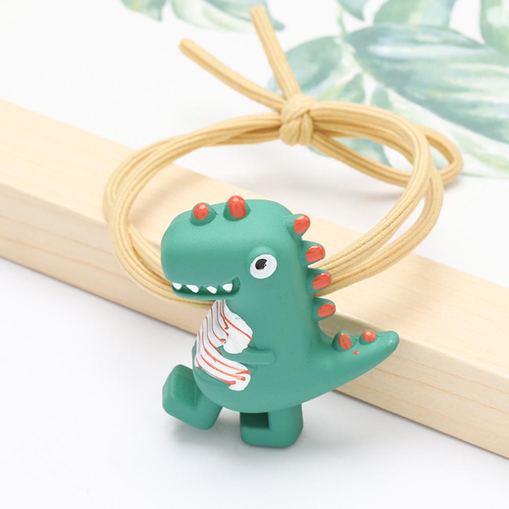 Little dinosaur elastic hair rope cute cartoon rubber band hair accessories NHJE195343