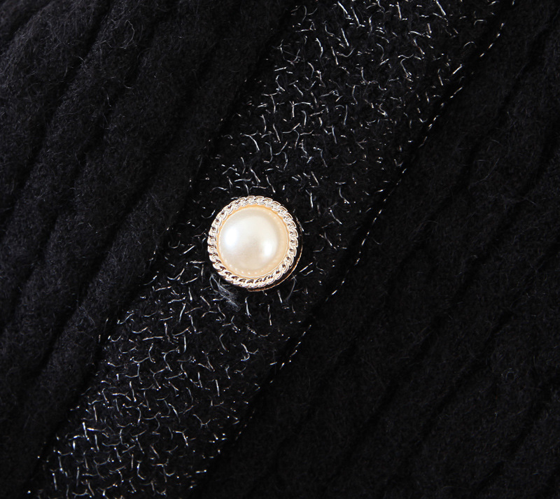 wholesale womens new style twist design pearl button cardigan top sweater NHAM269118