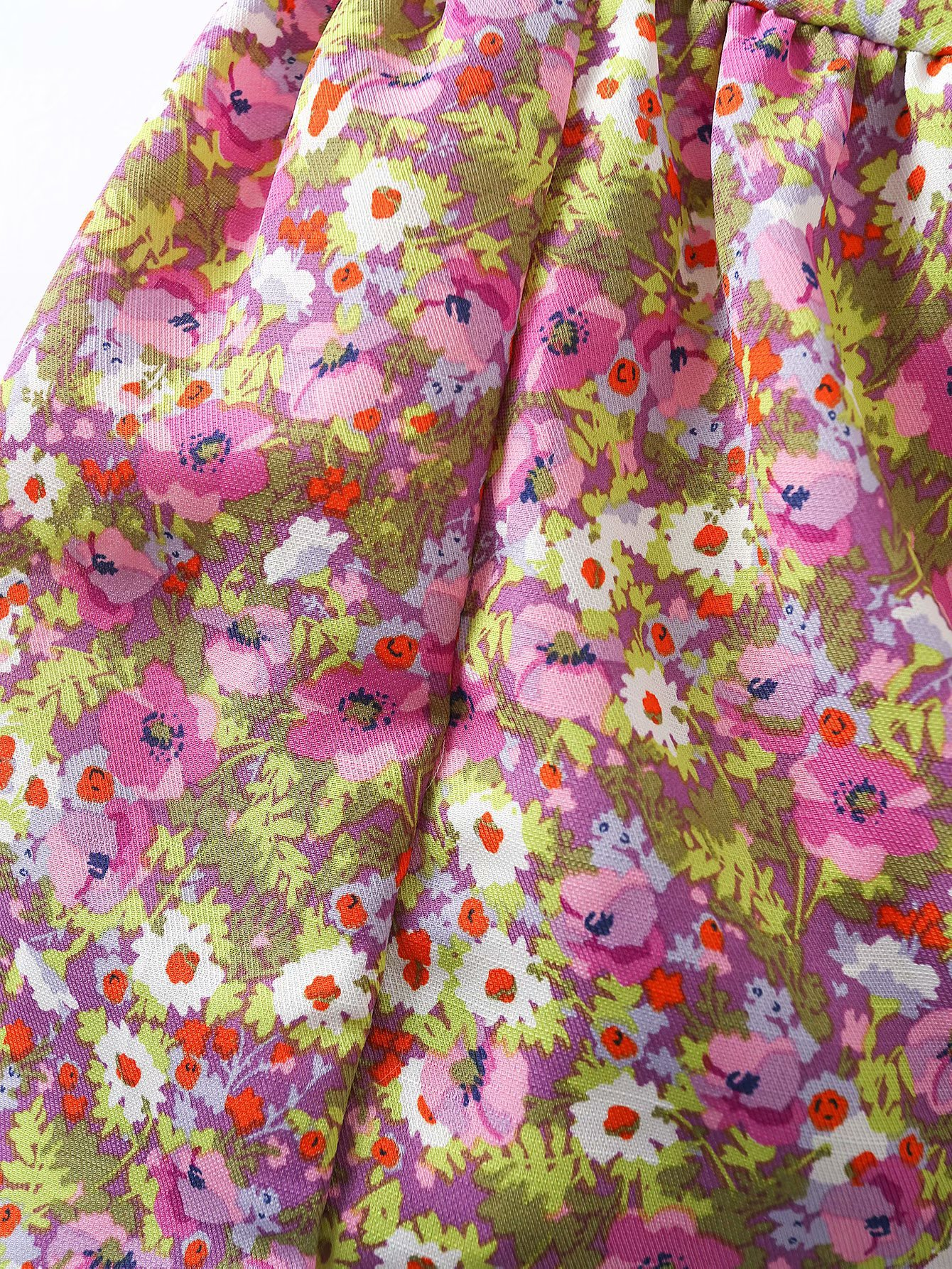 new Summer Purple Floral French Bellflower Skirt Dress wholesale nihaojewelry NHAM219662