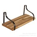 专供铁木置物架多层铁艺架 实木墙壁置物架一字板 生产厂家