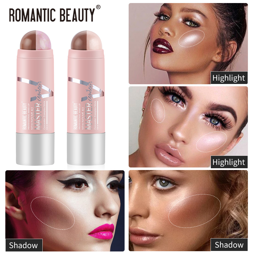 Roman beauty dual purpose high gloss European and American makeup brightening and repairing stick eye and neck modification high gloss stick