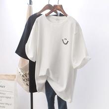 宽松白色短袖T恤女学生上衣2021韩国新款女式衣服女装一件代发