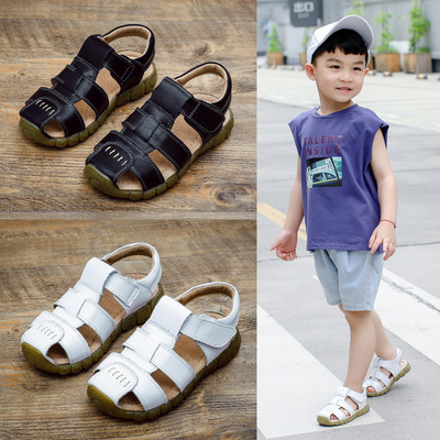 Boys' Sport leather children's Pigskin breathable children's Sandal