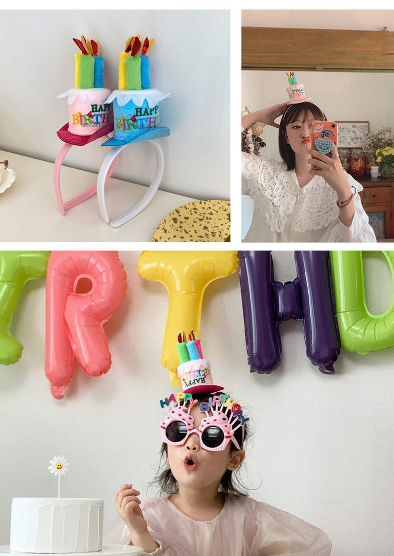 Creative  birthday cake  party supplies atmosphere decoration birthday hat  wholesale NHAH247451