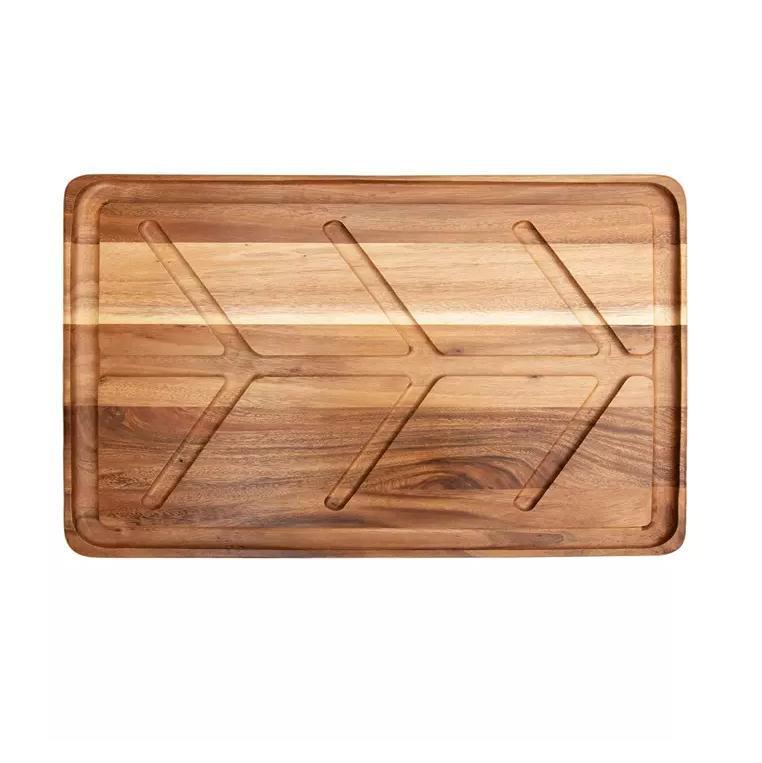 日式木托盘 相思木牛排板木质餐具木盘定制刻logo
