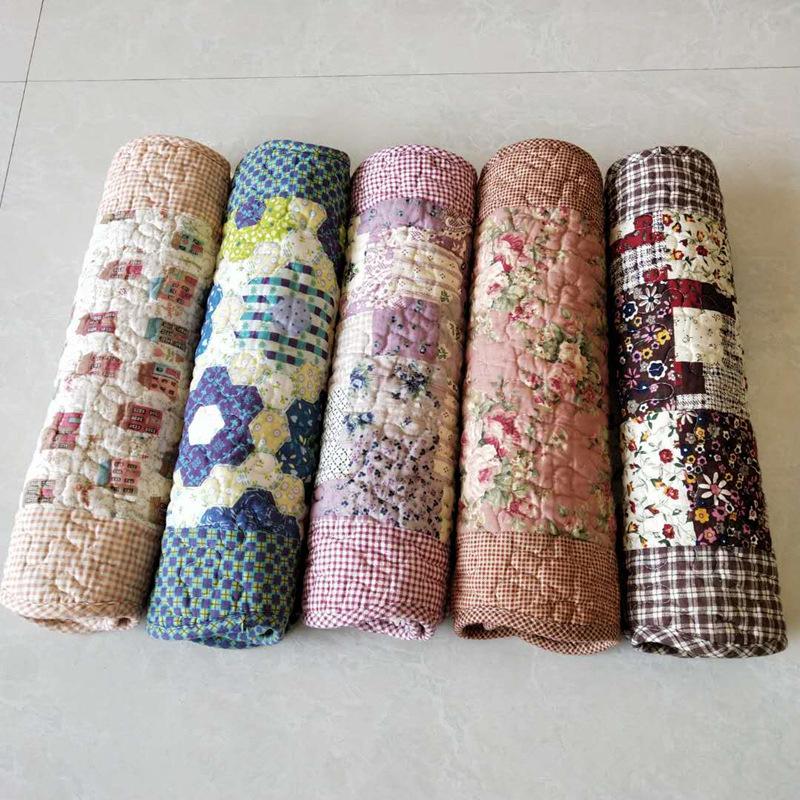 水洗棉印花绗缝家用地垫厂家 儿童卧室门口脚垫门垫 地毯地垫