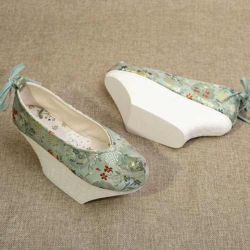 Ancient traditional chinese hanfu shoes for girls kids Han Dynasty shoes of Ming Dynasty clothing shoes