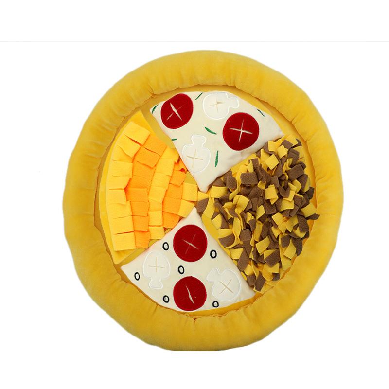 宠物PIZZA嗅闻垫可发声狗窝藏食游戏训练狗碗室内智力开发玩具垫
