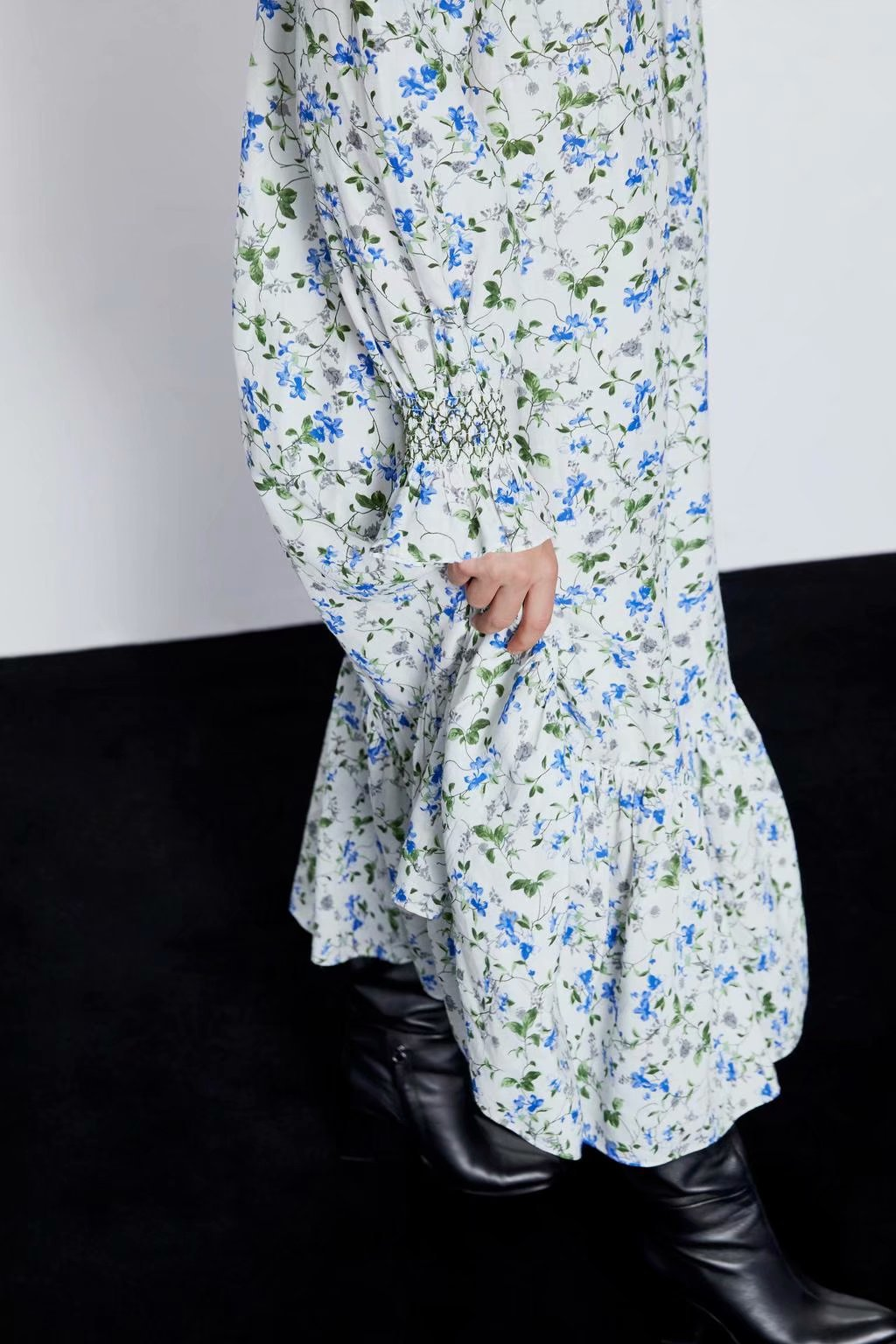 Wholesale Spring Printed Holiday Long Sleeve Dress wholesales yiwu  suppliers china NHAM204798
