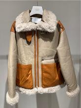 现货2020冬季新款欧美宽松气质通勤白色翻领气质外套\2C4M408