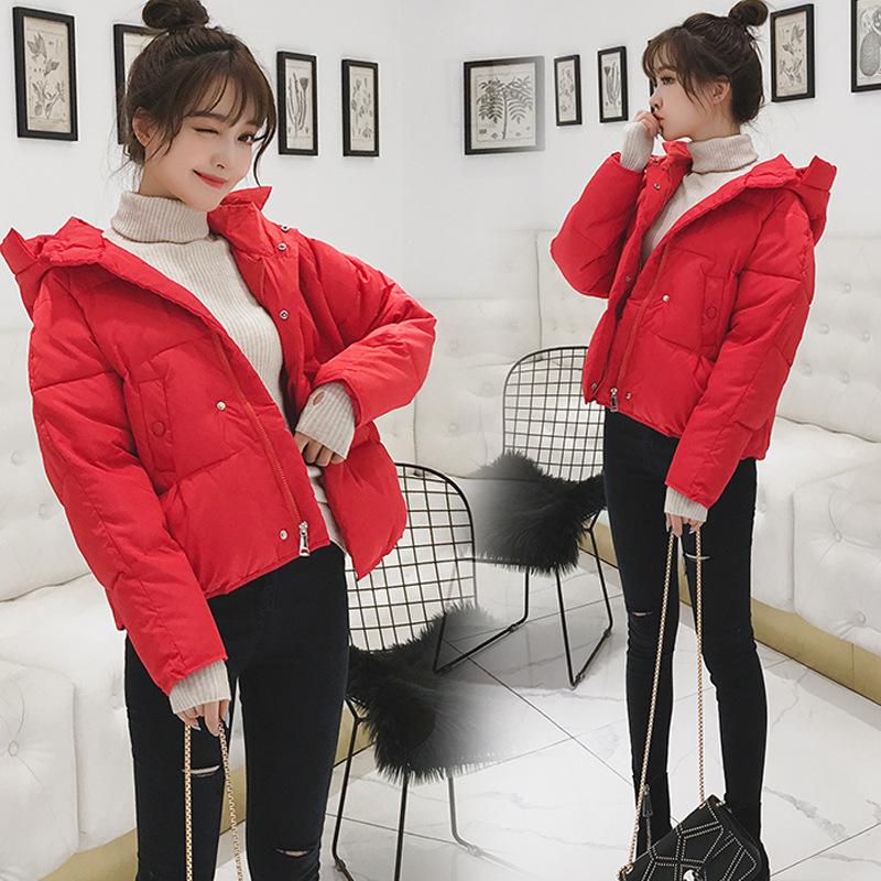 棉衣女短款2020新款冬季韩版宽松羽绒棉服加厚小个子面包服外套潮