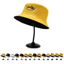 韩版双面渔夫帽女定制户外出游百搭透气遮阳帽女可折叠盆帽直供
