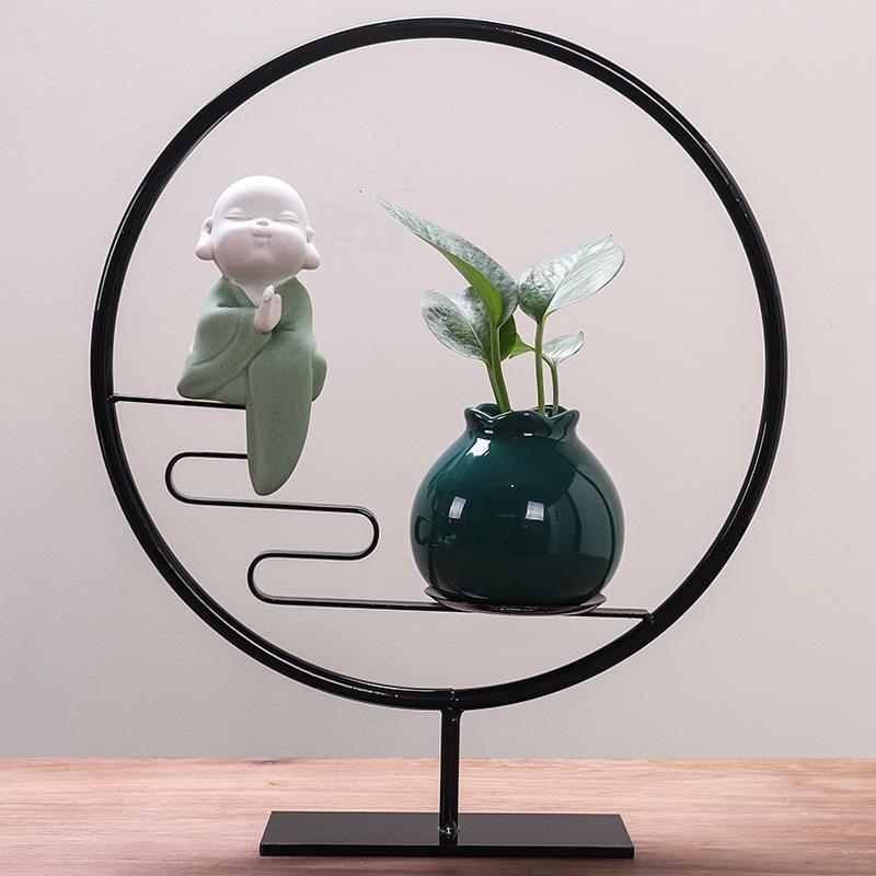 新家装饰摆件温馨客厅电视柜办公室创意中式禅意家居饰品花瓶客厅