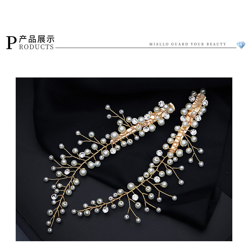 Hot selling fashion creative pearl bride wedding headdress wholesale NHHS257709