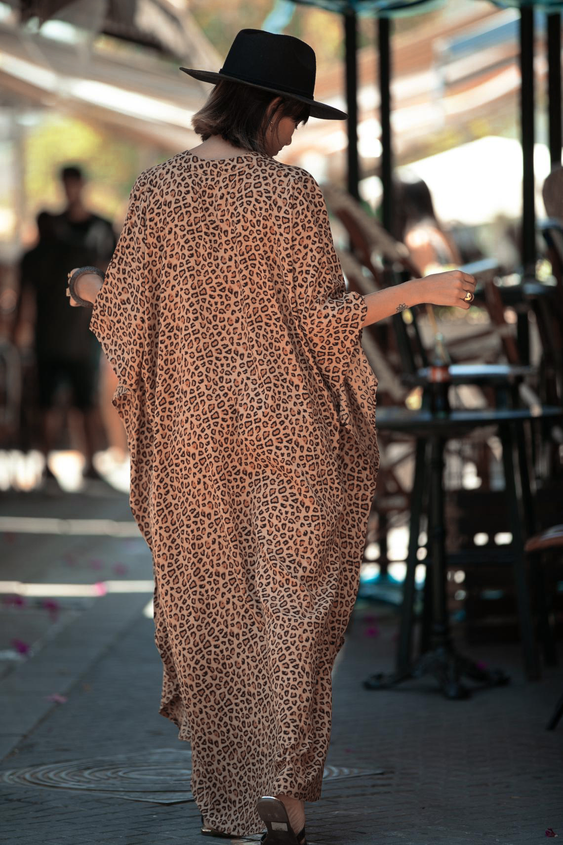 Nouveau cardigan  pois lopard vacances jupe longue couverture de plage robe en gros nihaojewelry NHXW243960
