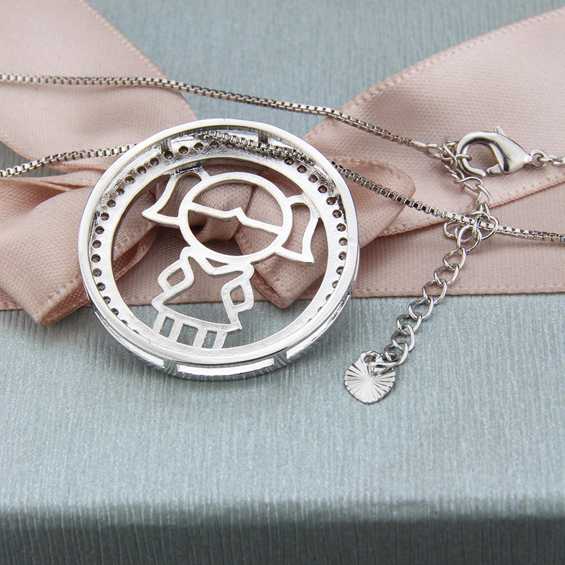 simple round boy and girl necklace NHBP313796