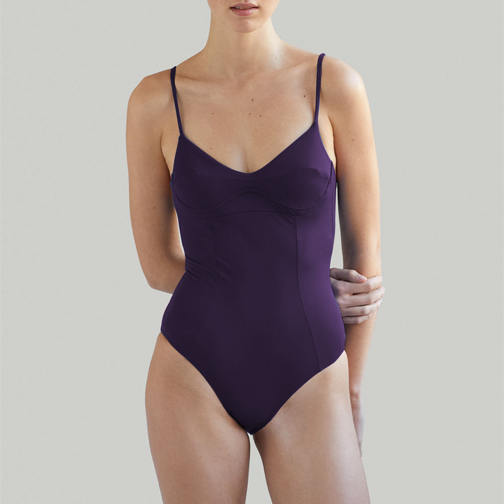 New solid color large size high waist conservative one-piece swimsuit NHHL204918