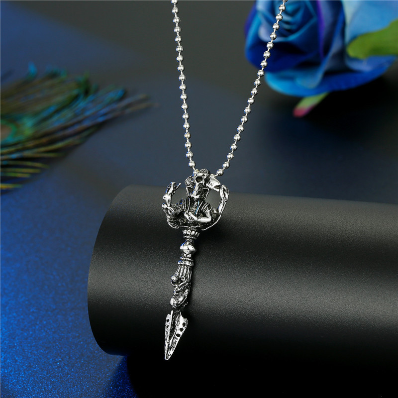 Fashion Skeleton Guitar Cross Scissor Dragon Animal Necklace