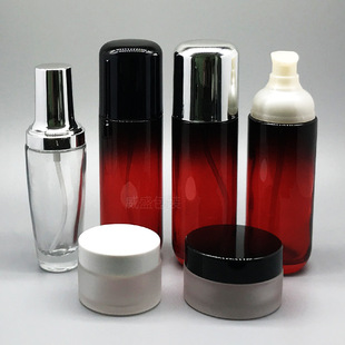Cosmetic packaging, lotion, press bottle, cosmetic bottle, 50ml glass spray bottle, press bottle