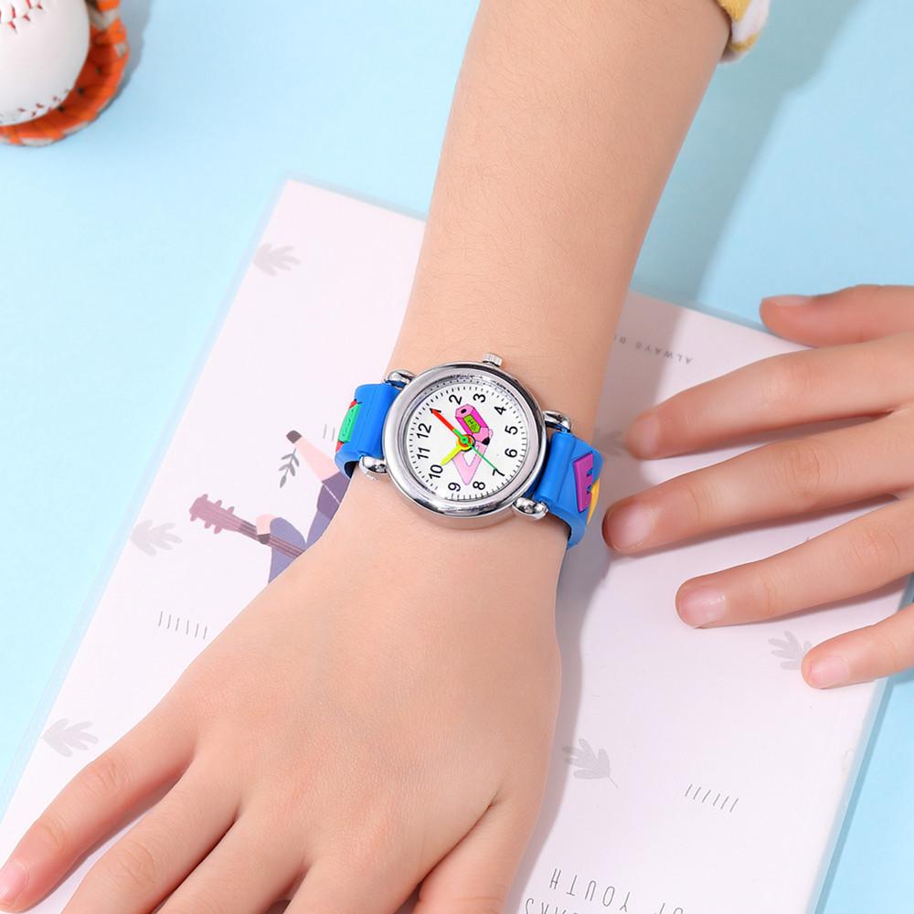 Cute colorful pointer pencil pattern plastic band quartz watch boy girl watch NHSY202008