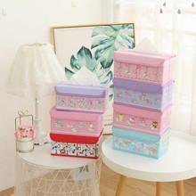 新款卡通多图库洛米折叠纸巾盒PU皮革桌面收纳盒家用车载纸巾盒