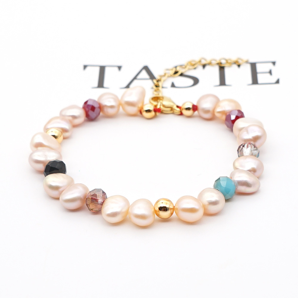 simple bracelet female Pearls natural freshwater baroque pearl crystal bracelet nihaojewelry wholesale NHGW215294