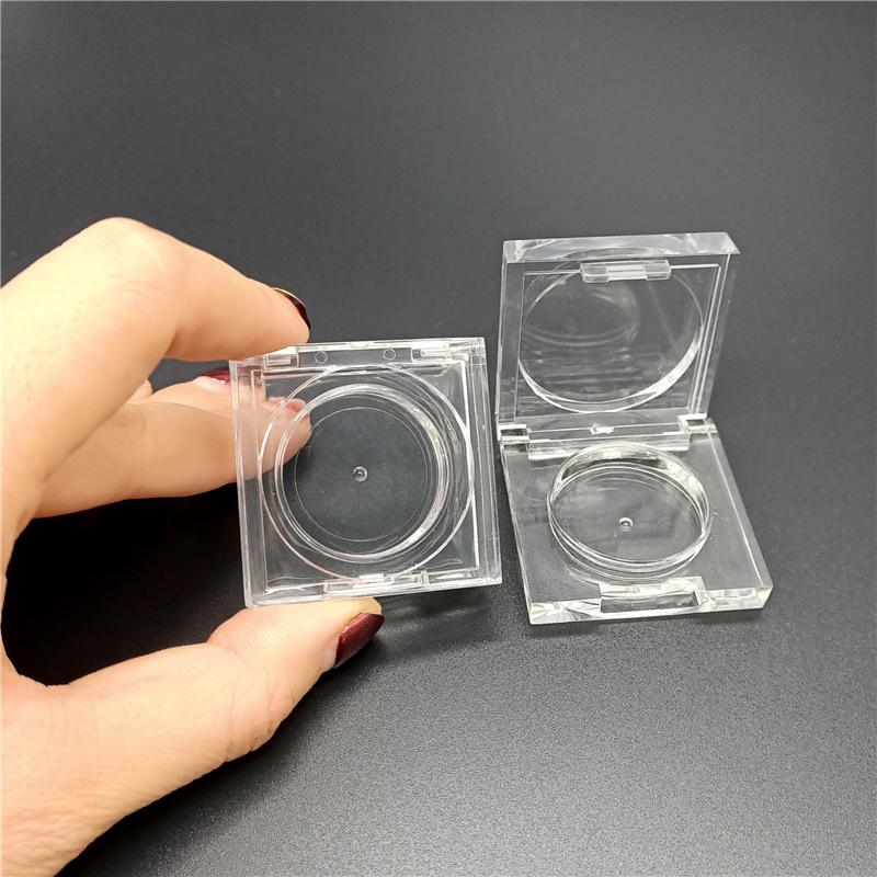 現貨 廠家定制 透明眼影盒 水晶正方形 單色眼影盒 內徑28.5 鋁盤