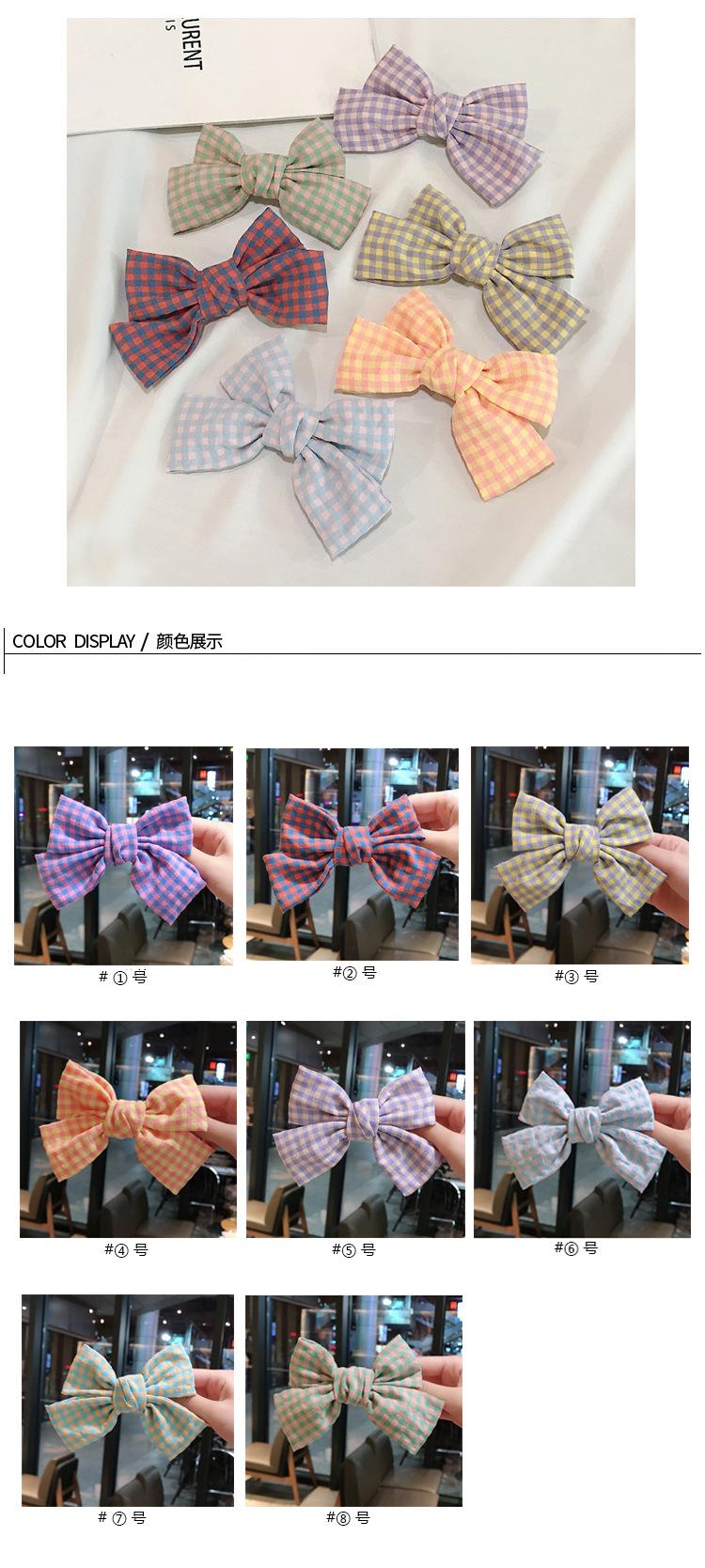 Korea new bow hairpin girl small lattice hairpin  wholesale nihaojewelry NHDQ243454