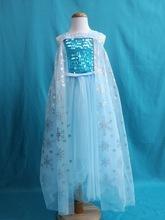 冰雪奇緣2同款愛艾爾莎公主裙子愛莎裙愛沙公主藍色吊帶連衣裙新
