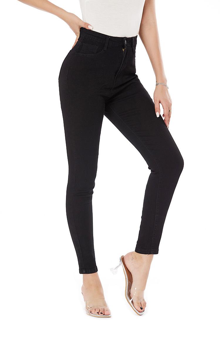 black stretch wash slim fit pants NSSY9123