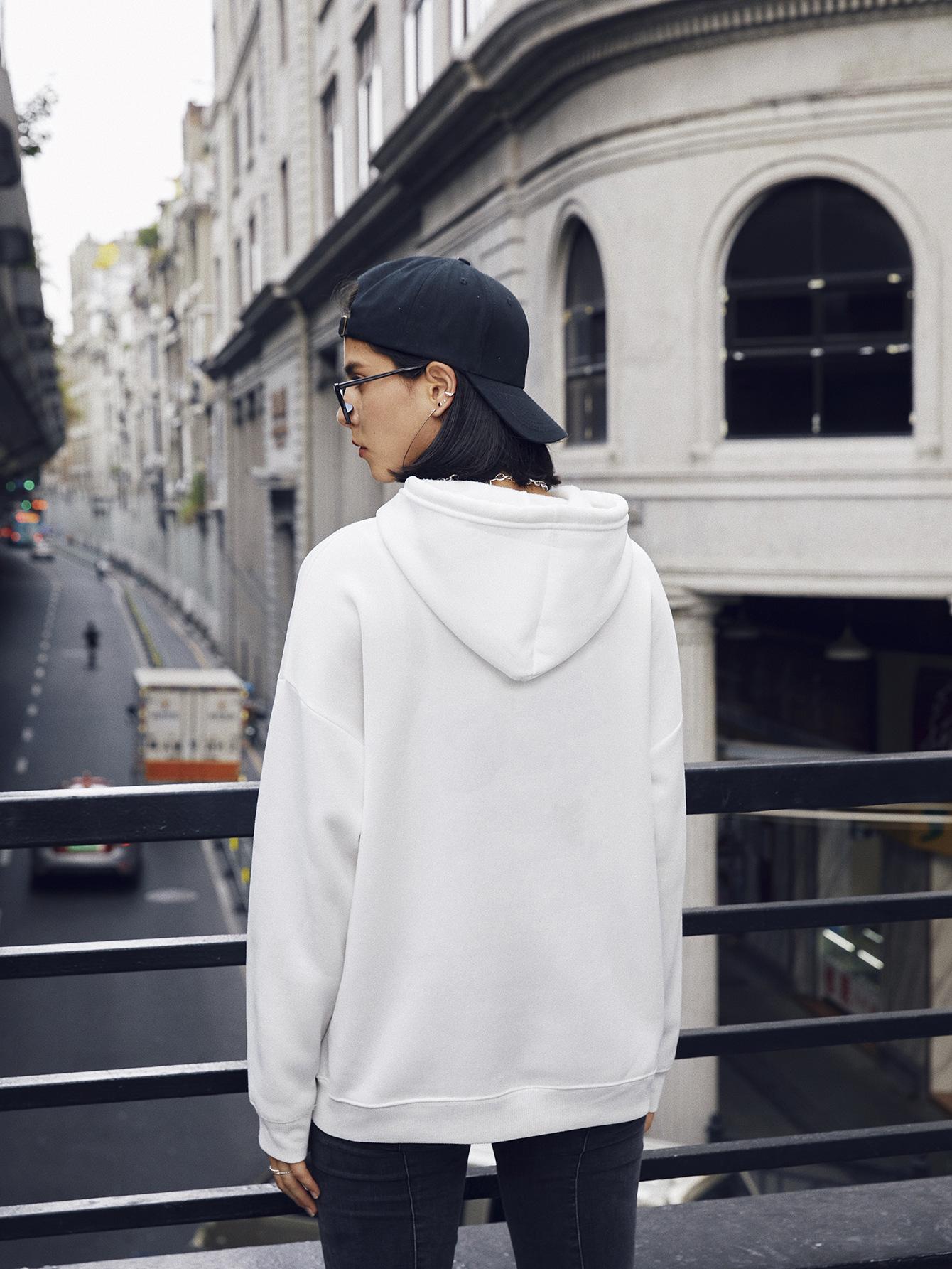 women's casual panda hooded sweater NSSN2267