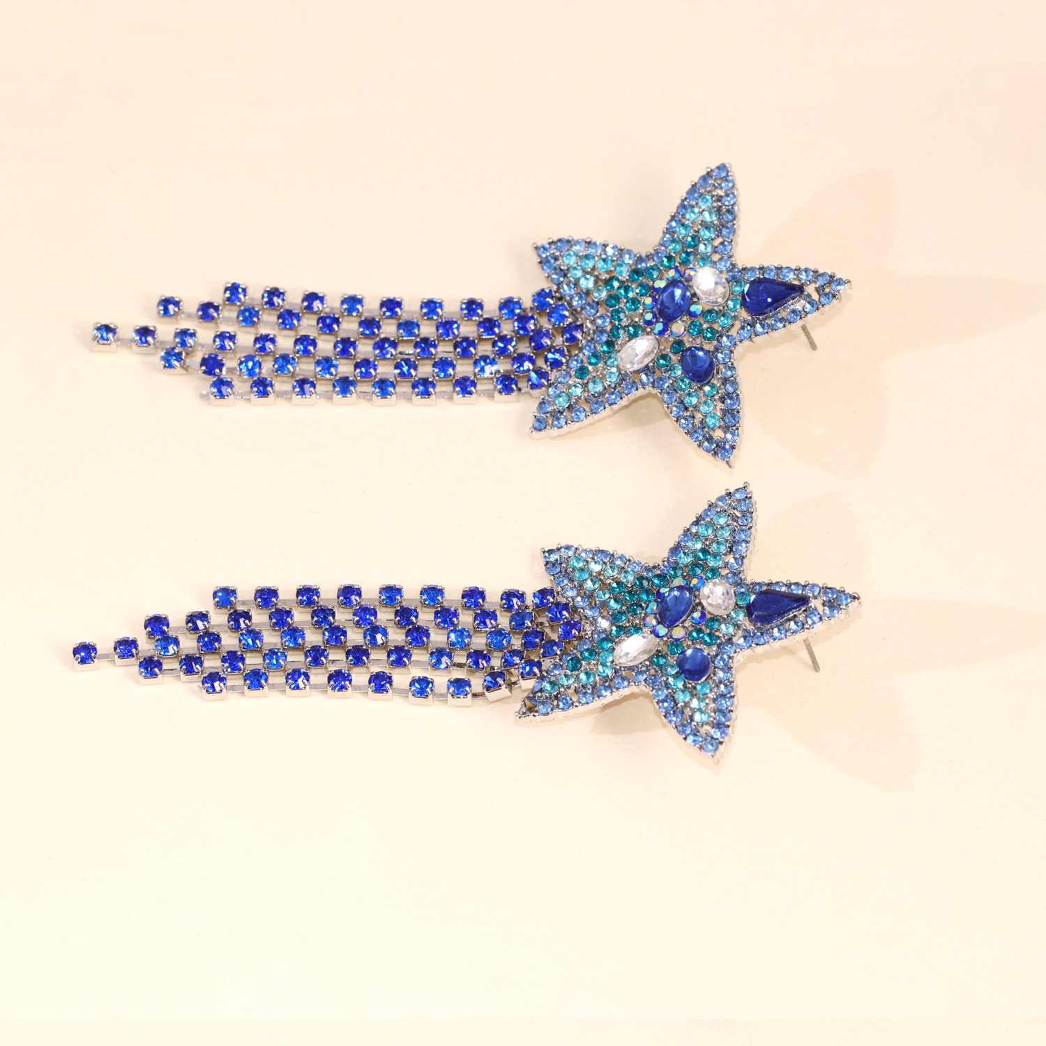 hot sale fashion new starfish star tassel earrings jewelry wholesale nihaojewelry NHJJ231858