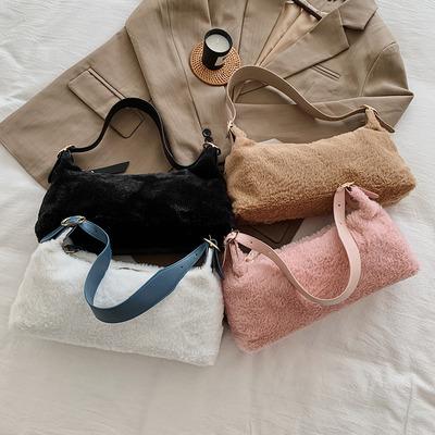 货源秋冬小包包女2020流行新款潮时尚毛毛单肩腋下包潮流毛绒包手拎包批发