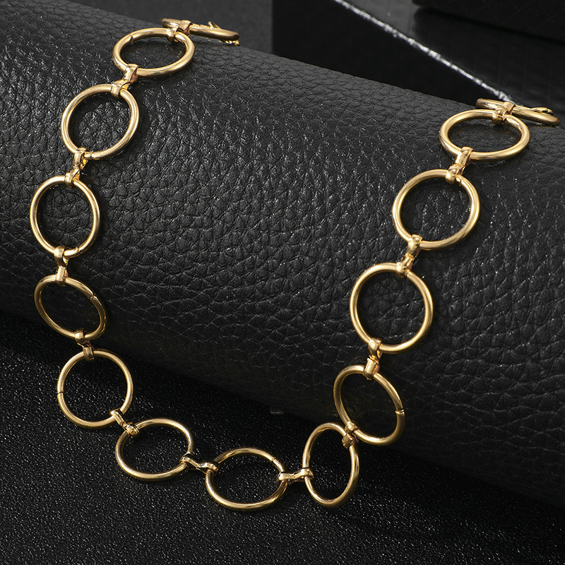fashion jewelry exaggerated tide money decoration geometric circle clavicle necklace wholesale nihaojewelry NHGY229348