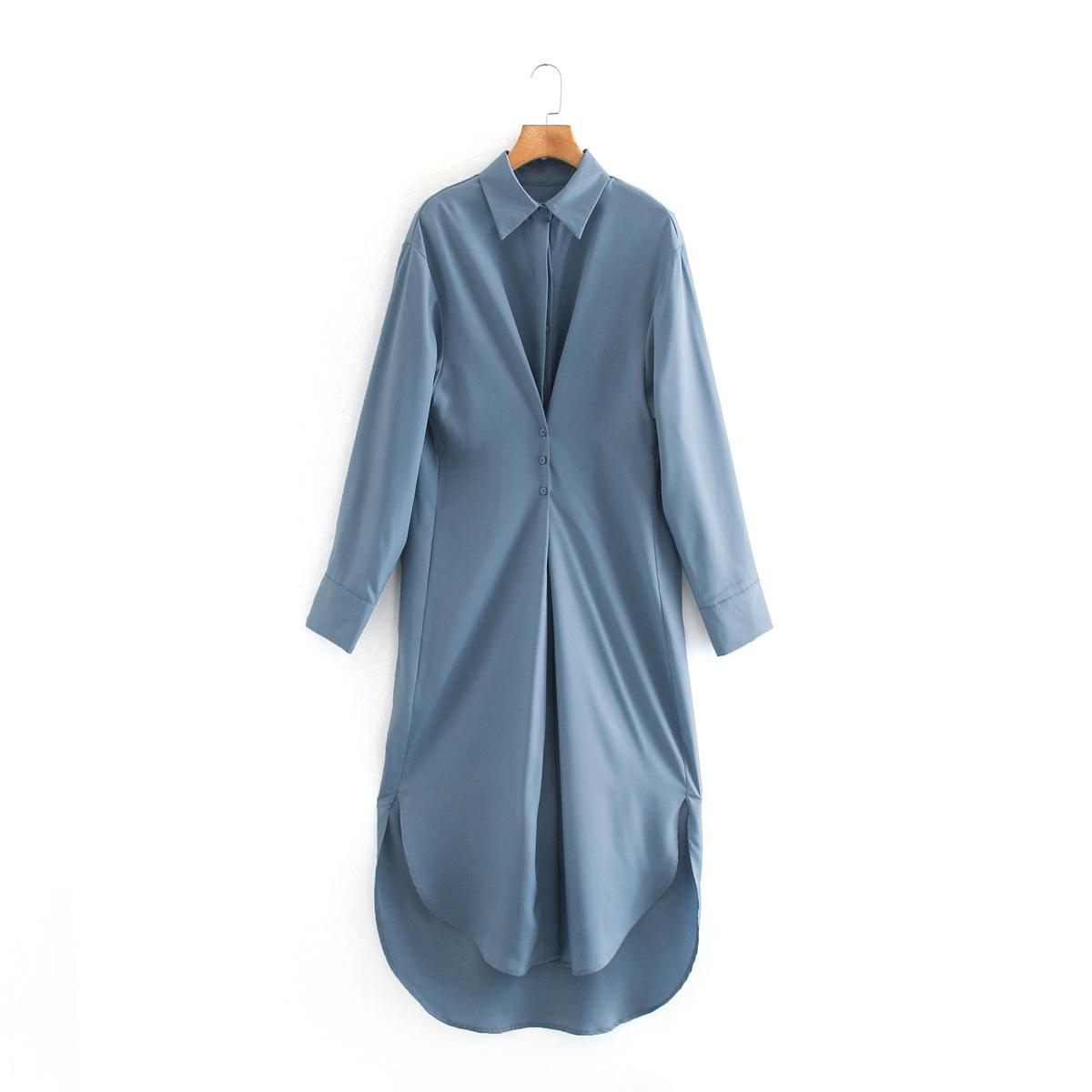 Hot selling fashion autumn longsleeved shirt dress wholesale NHAM258689