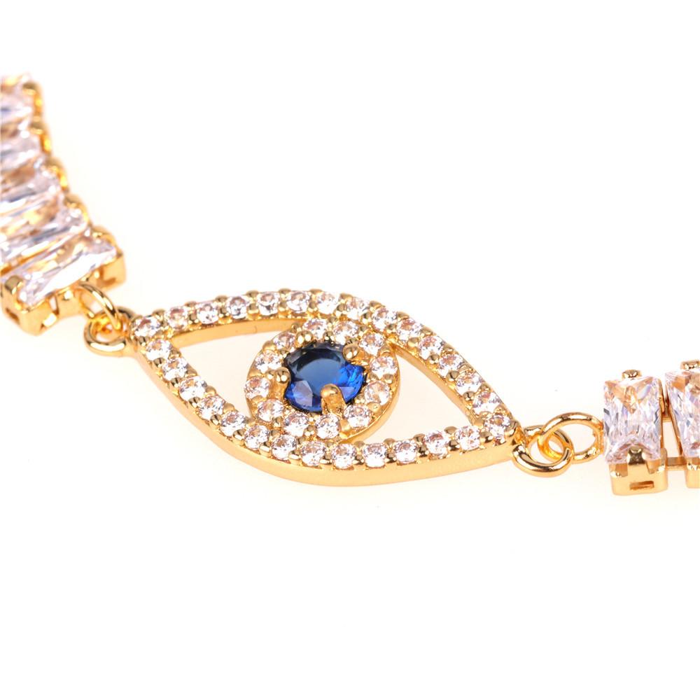 Fatifa Palm Bracelet Blue Eye Pendant Micro Diamond Set Bracelet Wholesale NHPY202864