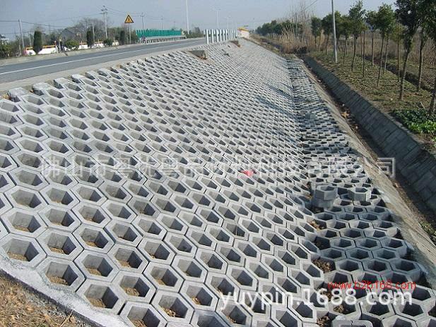 广东 厂家 直销 空心六角砖  混凝土连锁护坡砖 生态面包砖挡土砖