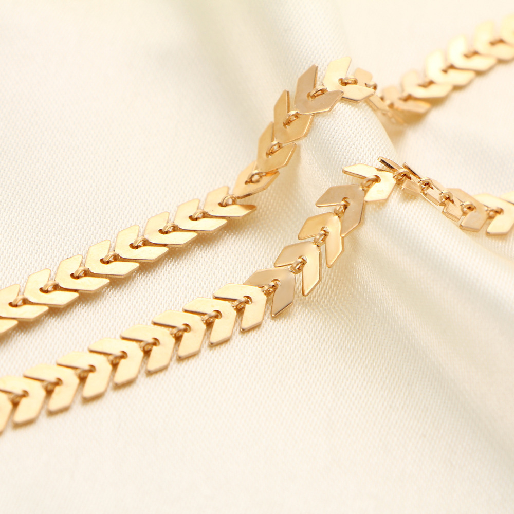 new arrow neck chain creative retro simple alloy metal necklace wholesale nihaojewelry NHYI232116