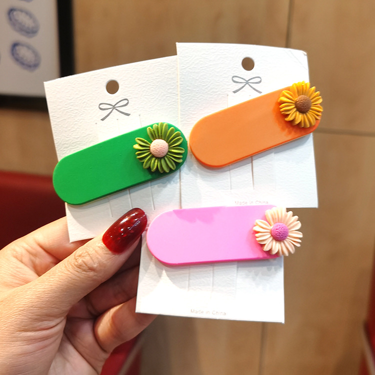 Korean new simple cute daisy cheap hairpin wholesale NHSA209664