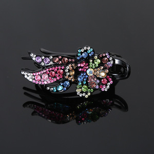 Hair clip hairpin for women girls hair accessories Hairpin back scoop clip large plate hair accessories hairpin water drill headdress three teeth clip
