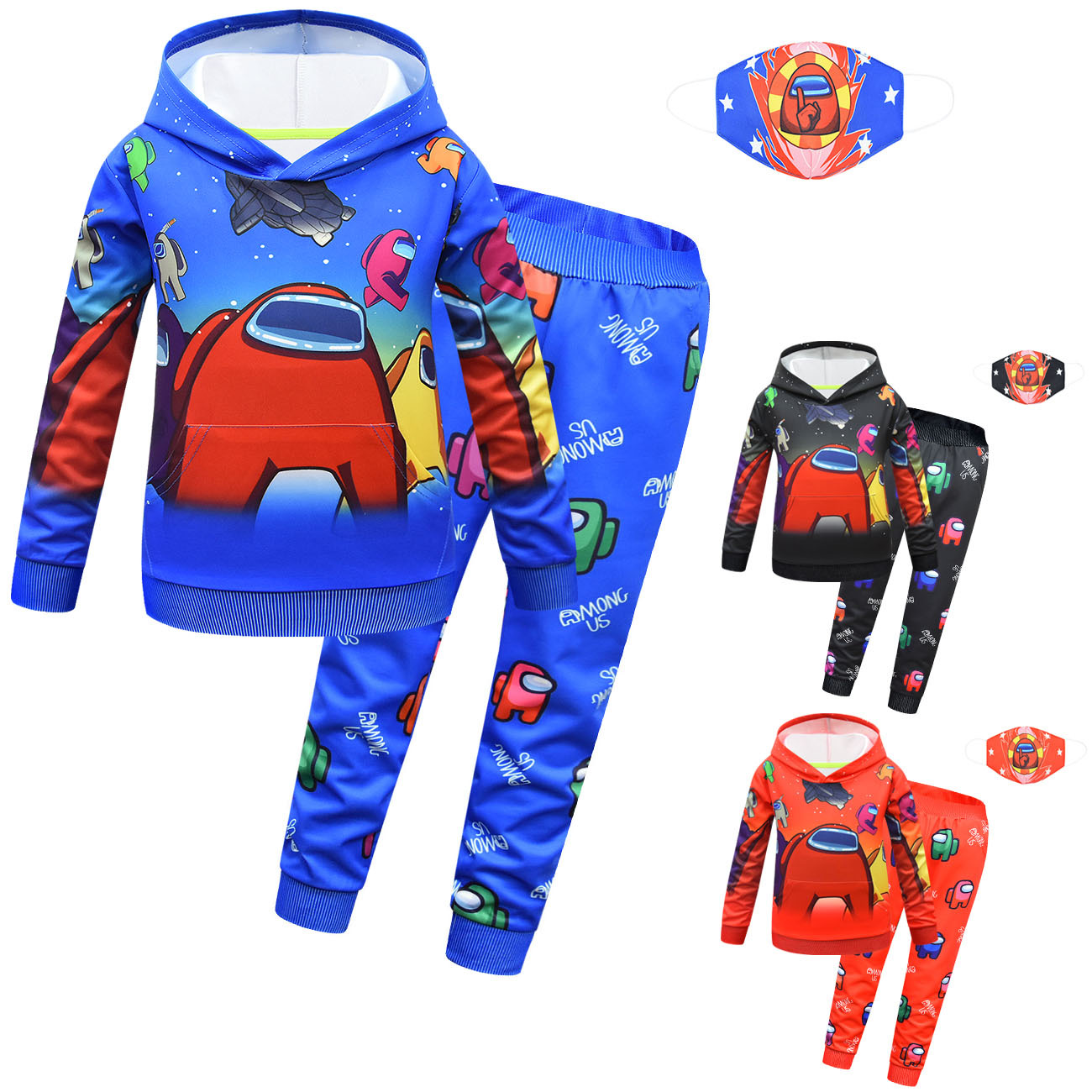 Sweater Boy Hooded Sweater Hooded Trousers Set Of Three