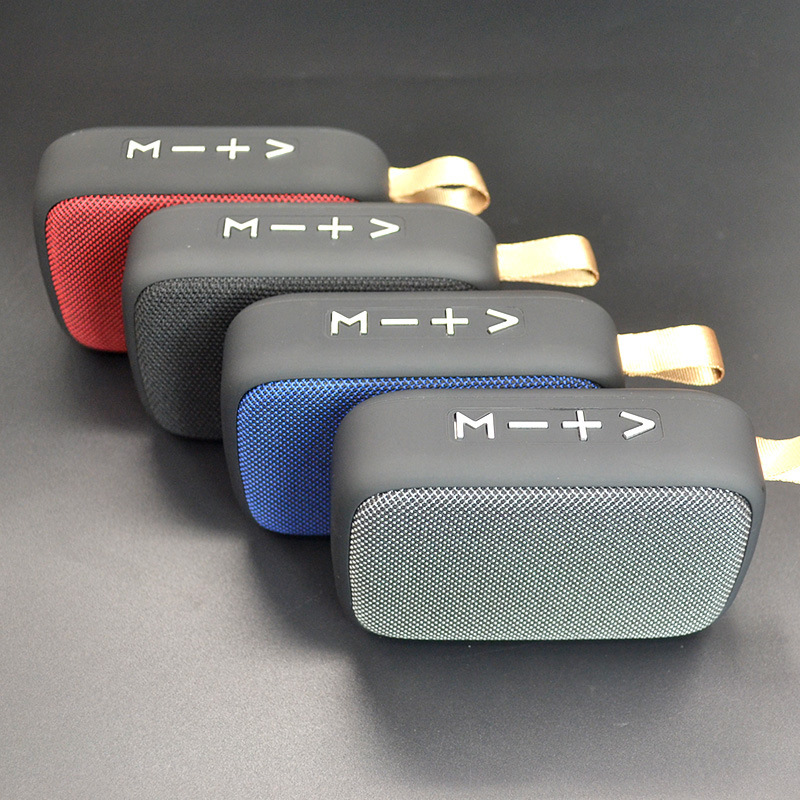 无线蓝牙音箱布艺方块U盘插卡户外骑车便携式蓝牙小音响礼品批发