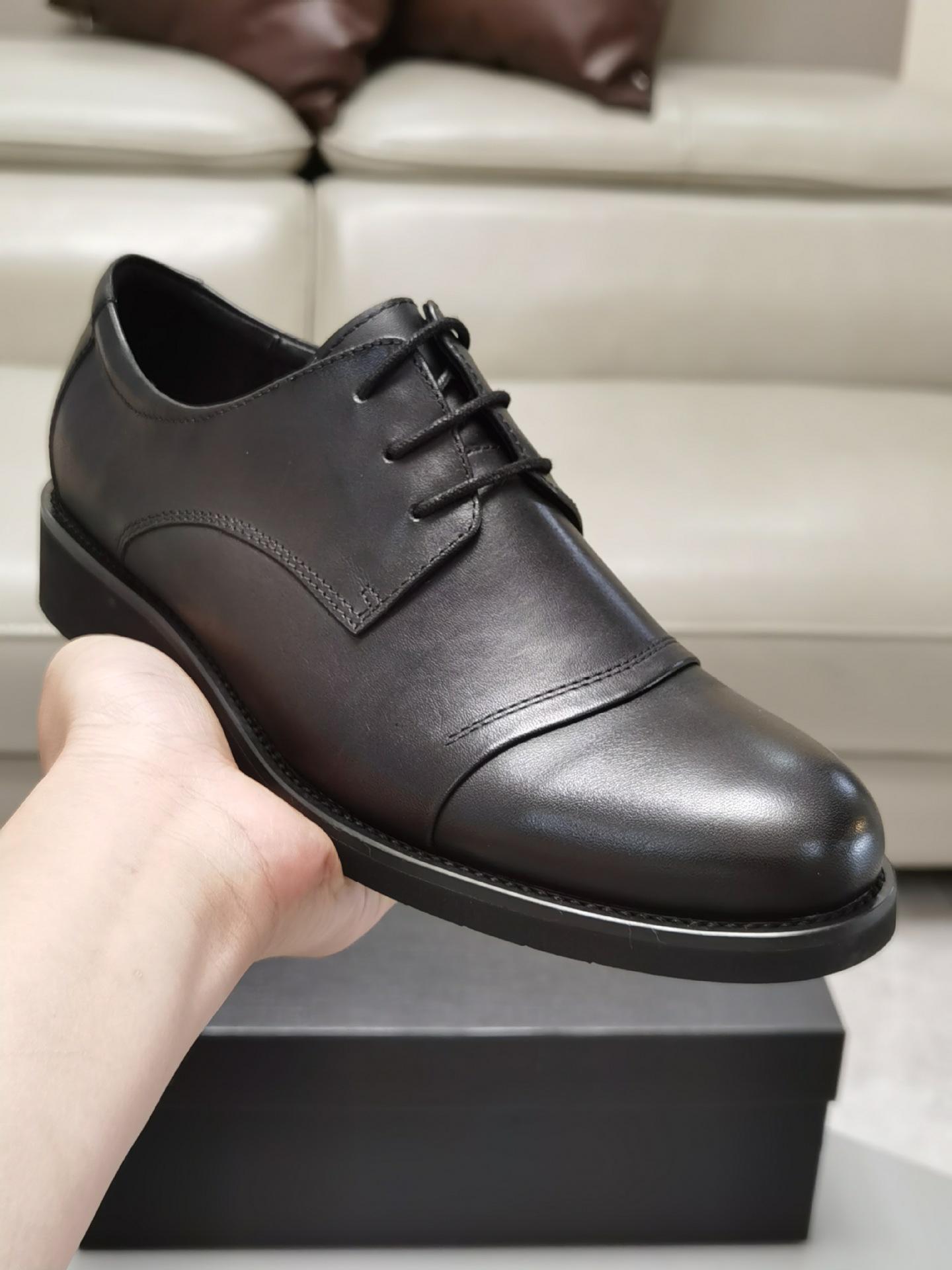 广州高档品牌外贸原单正品头层牛皮商务休闲正装男士皮鞋批发厂家