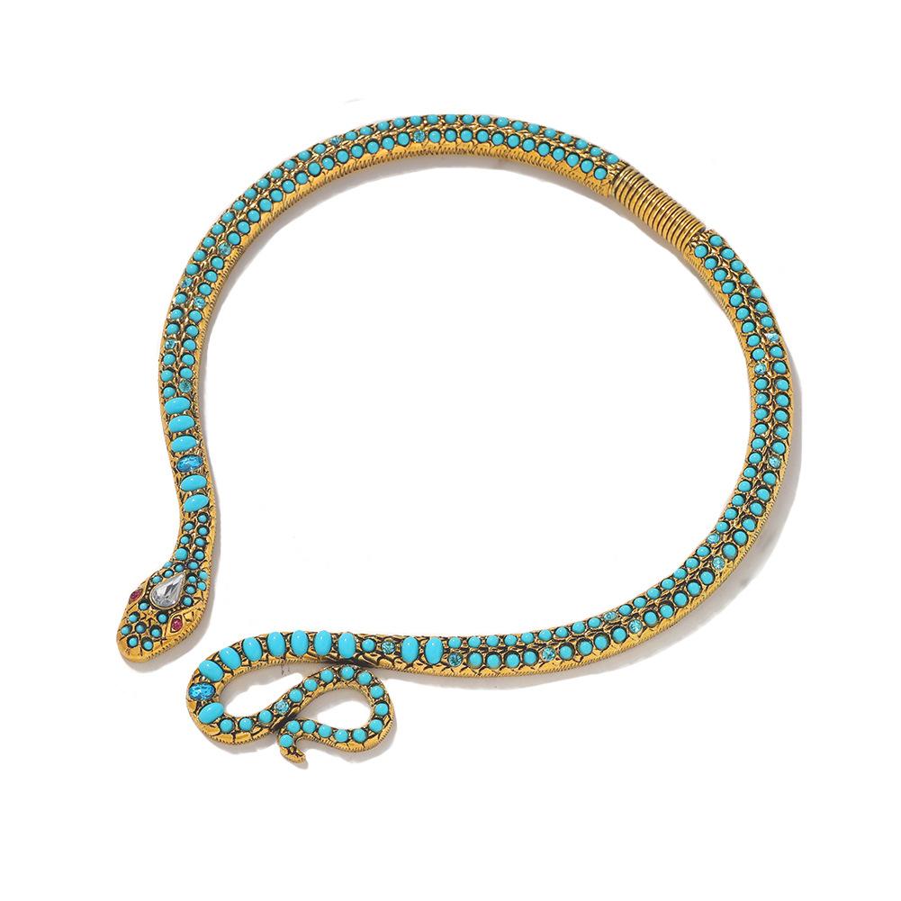 New Fashion Acrylic Dark Exaggerated Snake Collar Wholesale NHJQ204721
