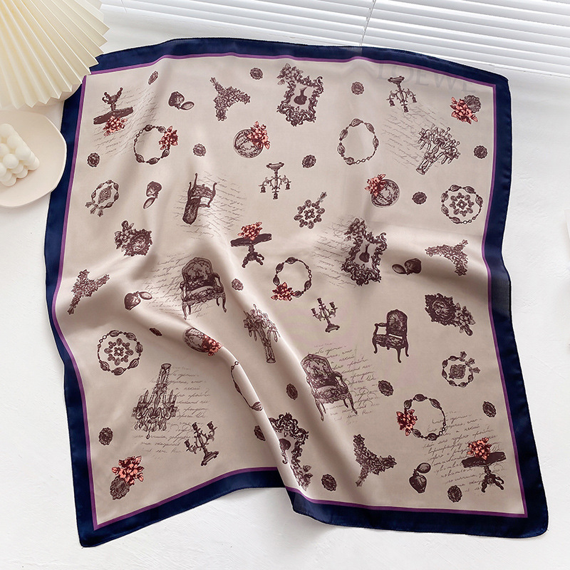 Retro imitation silk small square scarf  NHCJ294438