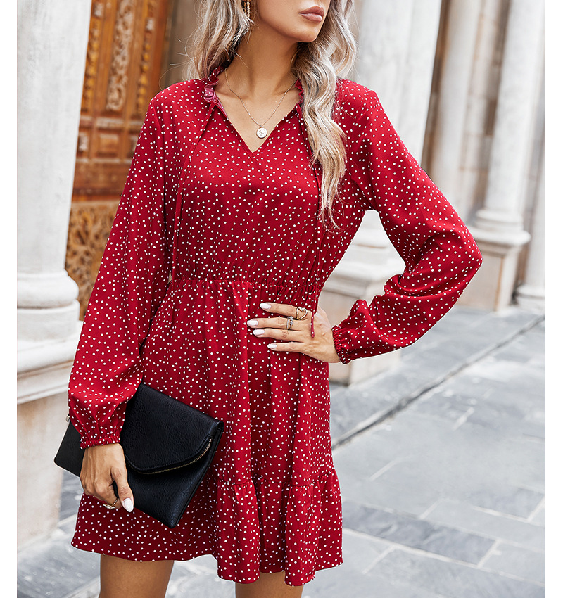 hot women's 2020 new winter print dress NSKA201