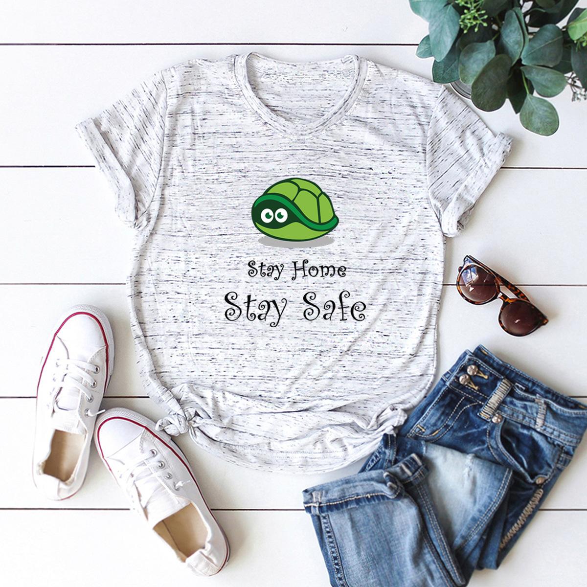 casual epidemic short-sleeved women's T-shirt NSSN1813