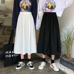 المصنع مباشرة توريد النسخة الكورية من الأدوات البيضاء طالب تنورة الرجعية كلمة عالية الخصر تنورة مطوي تنورة الإناث الإضافية