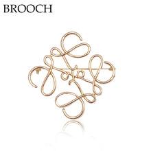 Brooches同款羅意威胸針高檔 幾何方形鏤空別針 西裝配飾女士胸花